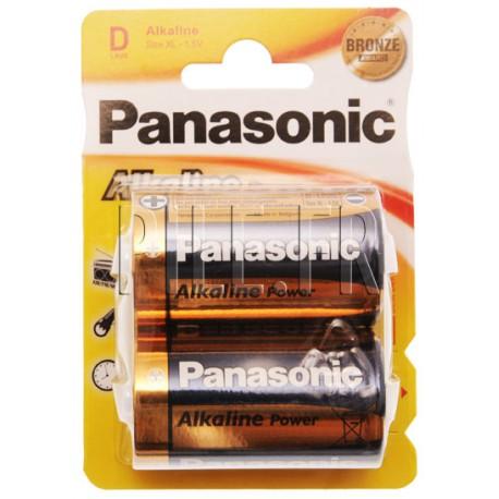 Pile LR20 D Panasonic Alcaline Power