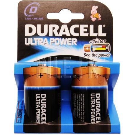 Piles LR20 D DURACELL Ultra Power