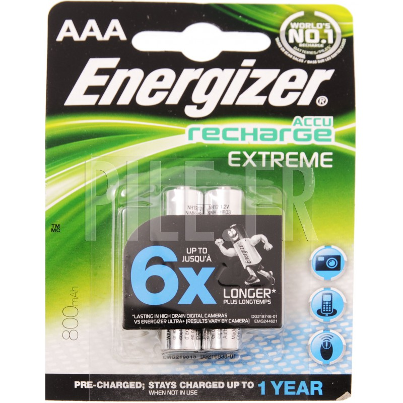Piles rechargeables lr03 aaa 800mah energizer - Pile aaa lr03 ...