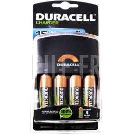 Chargeur pile 15 minutes + 4xLR6 Duracell