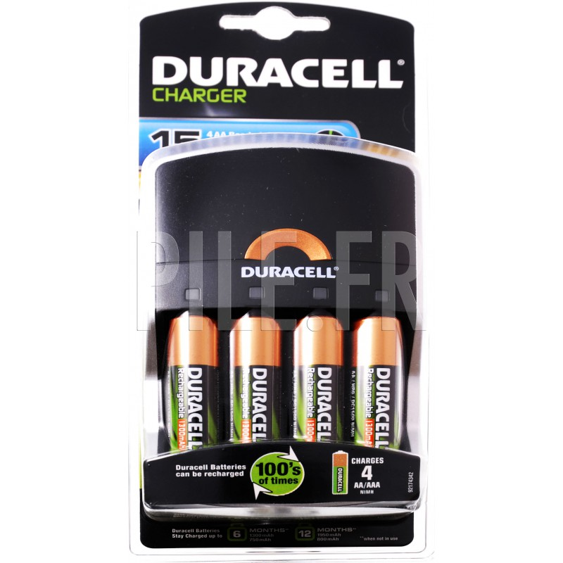 chargeur pile 15 minutes 4xlr6 duracell. Black Bedroom Furniture Sets. Home Design Ideas