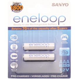 Piles LR03 AAA rechargeables Sanyo 750 mAh