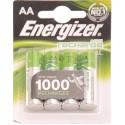 Piles LR6 AA Energizer rechargeables 1300mAh