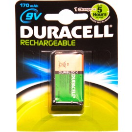 Pile 9V (6LR61) rechargeable Duracell