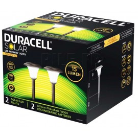 2 lampes solaires 15 lumens GL001BP2DU Duracell