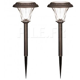 2 lampes solaires 5 lumens GL002NP2DU Duracell