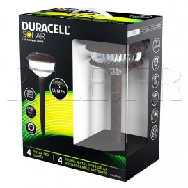 Pack lampes solaires 5 lumens Duracell GL003RP4DU - GL003RT6DU