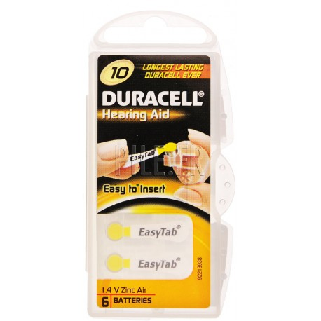 Piles auditives 10 DURACELL