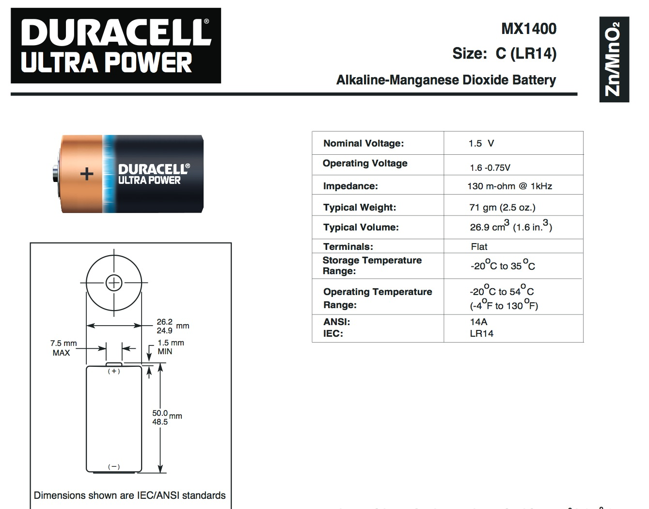 Pile LR20 Duracell Ultra Power