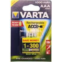Piles LR03 AAA rechargeables Varta 1000 mAh
