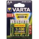 Piles LR6 AA rechargeables Varta 2100 mAh