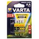 Piles LR6 AA Varta rechargeables 2600 mAh