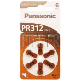 Piles auditives PR312 Panasonic