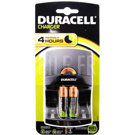 Chargeur pile 4 heures + 2xLR6 Duracell