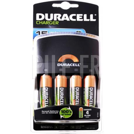 Chargeur pile 15 minutes + 4xLR6 Duracell