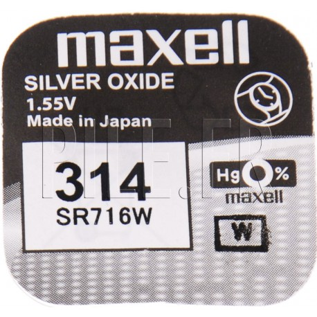Pile 314 SR716W Maxell