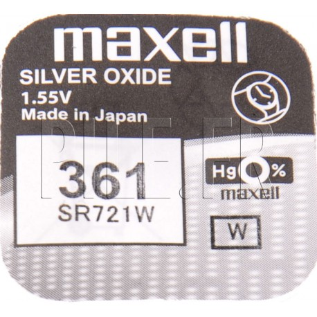 Pile 361 SR721W Maxell