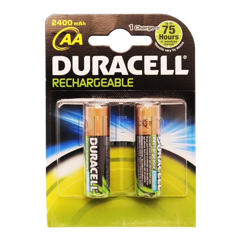 piles lr6 aa rechargeables duracell 2500 mah. Black Bedroom Furniture Sets. Home Design Ideas