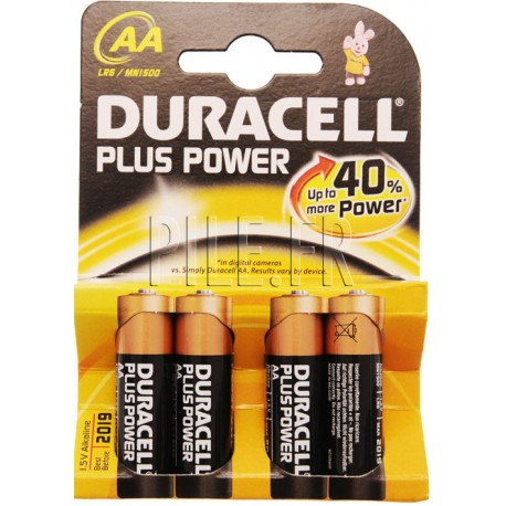 Piles LR6 AA AM3 DURACELL Plus Power