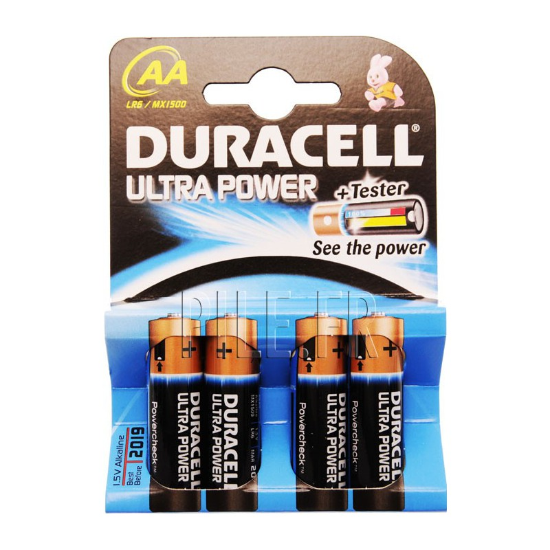 piles lr6 aa duracell ultra power. Black Bedroom Furniture Sets. Home Design Ideas
