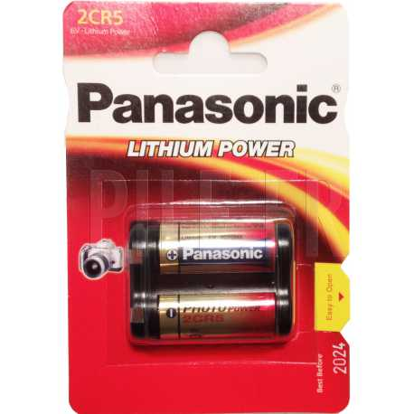 Pile 2CR5 lithium 6 volts Panasonic
