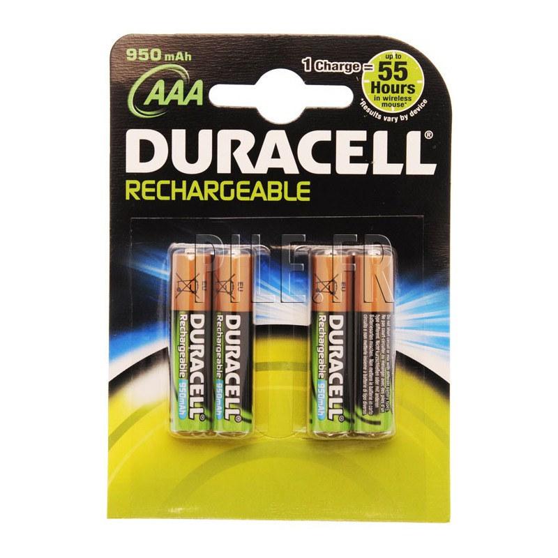 piles lr03 duracell rechargeables aaa 800 mah. Black Bedroom Furniture Sets. Home Design Ideas