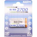 Piles LR6 AA rechargeables Sanyo 2700mAh