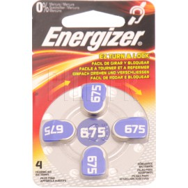 Piles auditives 675 Energizer