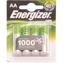 Piles LR6 AA Energizer rechargeables 1300mAh