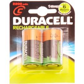 Piles LR14 C rechargeables 2200 mAh Duracell