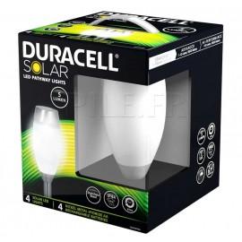 Pack lampes solaires Duracell 5 lumens en verre dépoli GL011NP4DU - GL011NT6DU