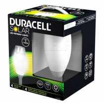 Pack lampes solaires Duracell 5 lumens en verre dépoli