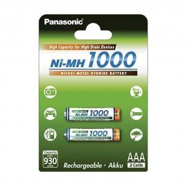 Piles LR03 AAA rechargeables Panasonic 1000mAh