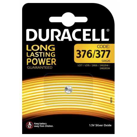 Pile D 376 / 377 / SR66 / SR626 Duracell