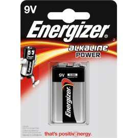 Pile 9V (6LR61) Energizer Alkaline Power