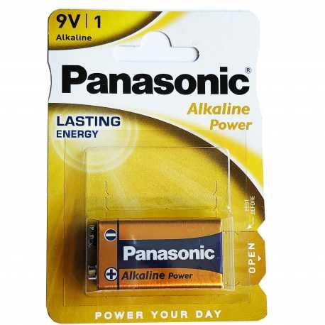 Pile 9V (6LR61) Panasonic Alcaline Power