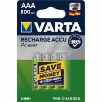 Piles LR03 AAA rechargeables Varta 800 mAh