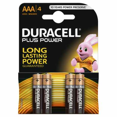 Piles LR03 AAA DURACELL Plus Power