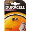 Piles D 357 / 303 - SR44W Duracell