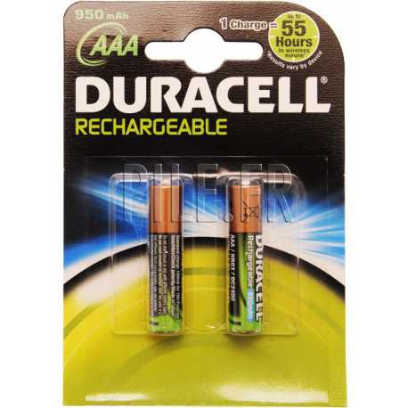 Piles LR03 DURACELL rechargeables AAA 800 mAh