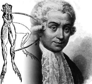 Travaux de Luigi Galvani sur les animaux et l'électricité statique
