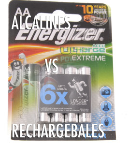 alcalines vs rechargeables