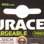 Capacité de la pile rechargeable ou batterie